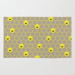 Happy Honeycomb Cells Rug