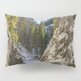 Winter and spring valley and mountains Pillow Sham