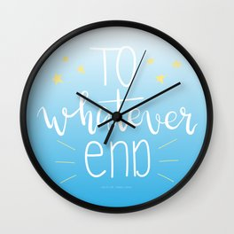 To Whatever End (Blue) Wall Clock