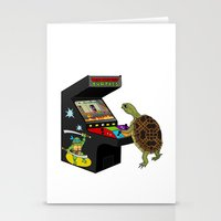 ninja turtle Stationery Cards featuring Arcade Ninja Turtle by Michowl