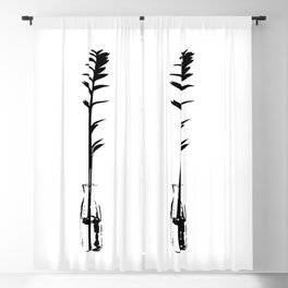 Branch in vase Blackout Curtain