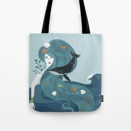 Aquatic Life of a Seaflower Tote Bag