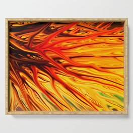 Orange Firethorn by Chris Sparks Serving Tray