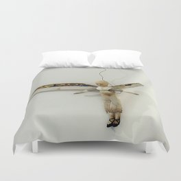 Flying Angel by Annalisa Ramondino Duvet Cover