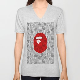 Hypebeast ape Camo Pattern Unisex V-Neck
