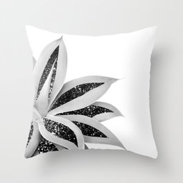 Agave Finesse Glitter Glam #5 #tropical #decor #art #society6 Throw Pillow