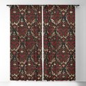 Persian Oriental Pattern - Black and Red Leather by k9printart