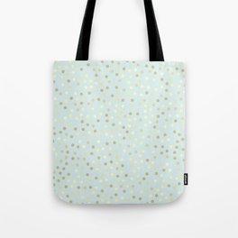 Baby Blue & Gold Polka Dots Tote Bag