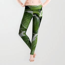 Hosta Leaves in the Rain Leggings