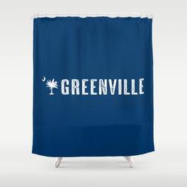Greenville, South Carolina Shower Curtain