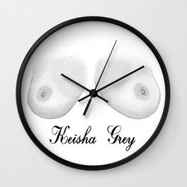 Keisha Grey Wall Clock