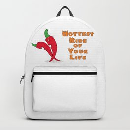 Hottest ride of your life with chili peppers. Backpack