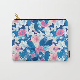 Bloom Blue Carry-All Pouch