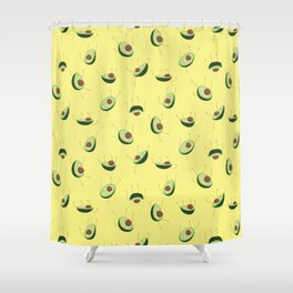 Avocados falling Shower Curtain