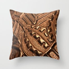 Natural Copper Grenade Throw Pillow