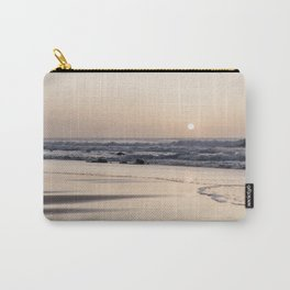 Pastel sunset at the beach   Waves of the Atlantic Ocean   Fine Art Travel Photography   Carry-All Pouch