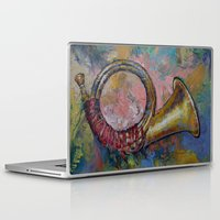 hunting Laptop & iPad Skins featuring Hunting Horn by Michael Creese