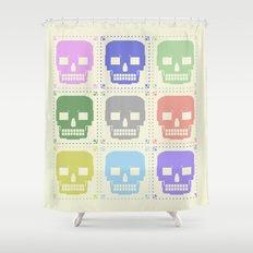 quilt of grrr (born to die). Shower Curtain