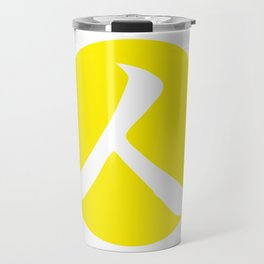 Canary Yellow Person Travel Mug