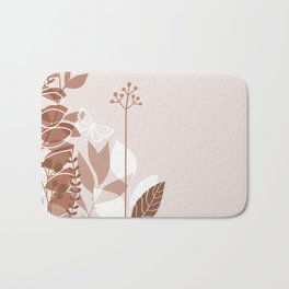 Botanicals and Butterfly Graphic Design 2 Sherwin Williams Cavern Clay SW7701 Bath Mat