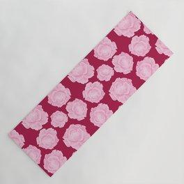 LOVE. Pink Roses. Yoga Mat