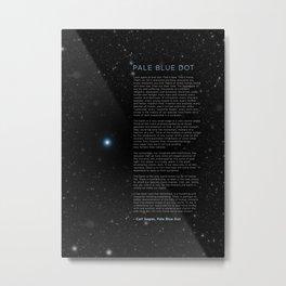 Carl Sagan's Pale Blue Dot Speech Science Cosmos Metal Print