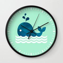 Little Whale Wall Clock