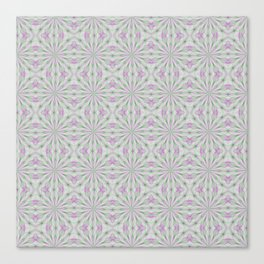 Rosettes in Purple and Green Canvas Print