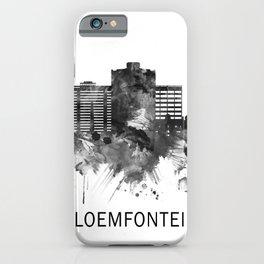 Bloemfontein South Africa Skyline BW iPhone Case