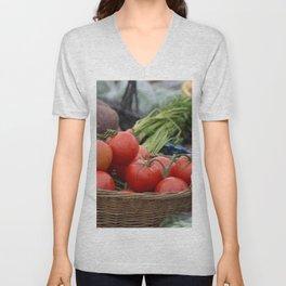 Fresh Produce at the Farmers Market Unisex V-Neck