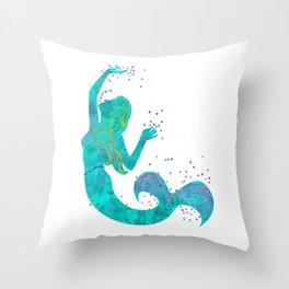 Love Mermaid Throw Pillow