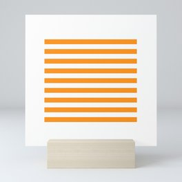 Sacral Orange and White Stripes Mini Art Print