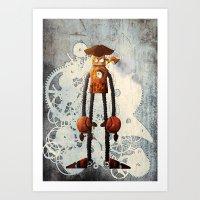 Steampunk Robot N2 Art Print