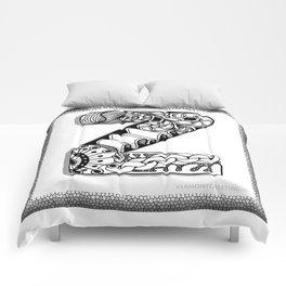 Zentangle Z Monogram Alphabet Initials Comforters