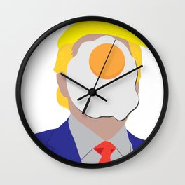 Egg On Your Face Trump Wall Clock