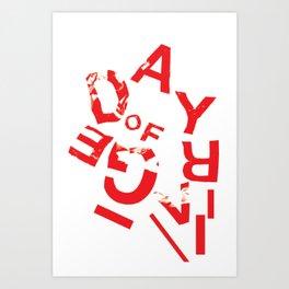 day of rage Art Print