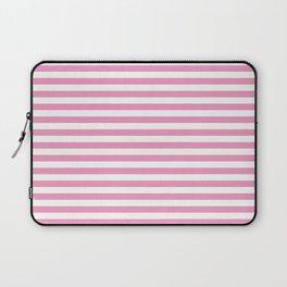 Small Horizontal Light Pink Stripes Laptop Sleeve