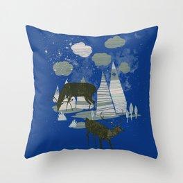 magic mountains Throw Pillow