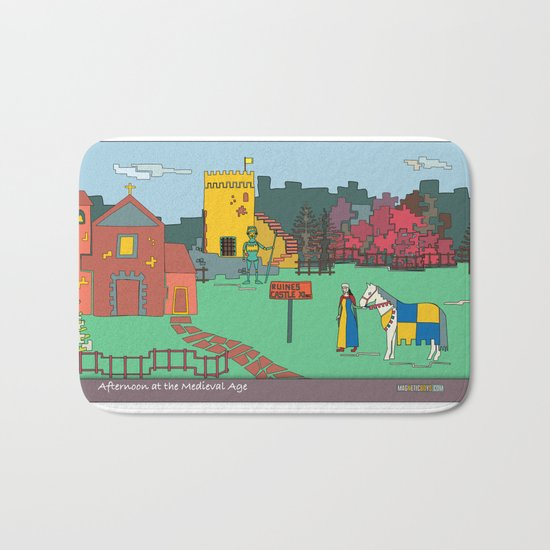 Afternoon at the Medieval Age Bath Mat