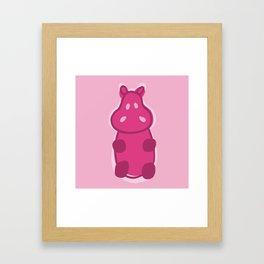 Gummy Hippo - Pink Framed Art Print