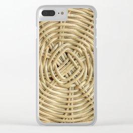 Rattan wickerwork texture Clear iPhone Case