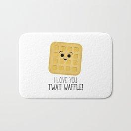 I Love You Twat Waffle Bath Mat