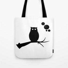 the owl awake Tote Bag