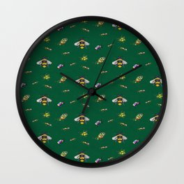 Bug Out Repeat Pattern Wall Clock