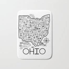 Ohio Map Bath Mat