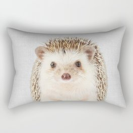Hedgehog - Colorful Rectangular Pillow