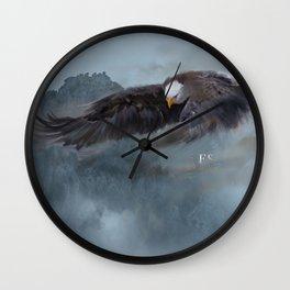 """Mother Eagle"" -Inspirational Digital Art  Wall Clock"
