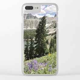 Nevada Summer Wildflowers Clear iPhone Case