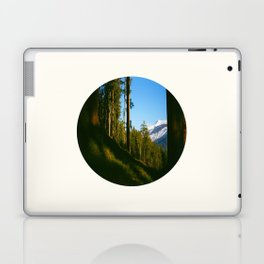 Mid Century Modern Round Circle Photo Secret Forest Hill Laptop & iPad Skin