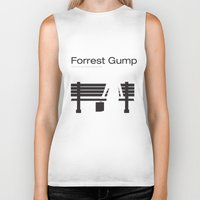 """forrest gump Biker Tanks featuring Film """"Forrest Gump"""" by Patricia Calzado"""